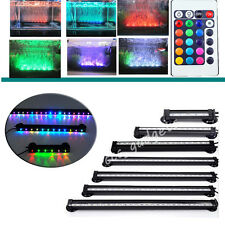 Colorful Air Bubble Curtain LED Underwater Light Bar Fish Tank Aquarium Tropical