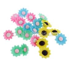 20pcs Color Choice Flowers Charms Polymer Clay Spacer Beads Findings DIY Craft