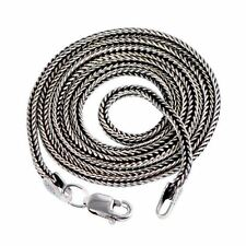 925 Sterling Silver 1.6 mm Multi Length Antique Black Wheat Chain Necklace