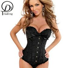 Satin Bone Lace Up Steampunk Corset Sexy Bustier Corset and Bustier Corset