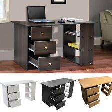 Computer Desk 3 Drawer Furniture for Home Office Study PC Table Wood Workstation