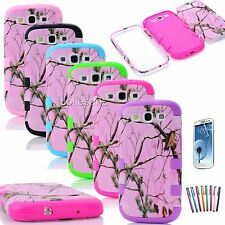 PINK TREE Tuff Hybrid Rubber Hard Soft Case For Samsung Galaxy S3 i9300 Cover