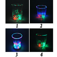Distinctive Flashing LED Wine Glass Light Up Barware Drink Cup Party Wedding