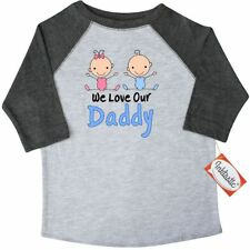 Inktastic Boy Girl Twins Love Daddy Toddler T-Shirt And Stick Figure Babies Cute