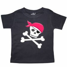 Inktastic Skull And Crossbones Toddler T-Shirt Pirates Bandana Pink Skeleton Kid