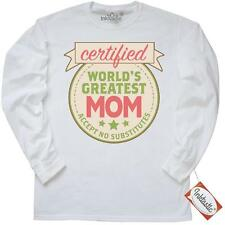 Inktastic Certified Worlds Greatest Mom Accept No Long Sleeve T-Shirt Mothers