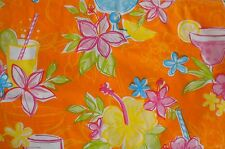 New Summer Fun Vinyl Table cloth cocktail drinks flower theme Square Oblong Rnd