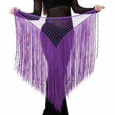 Belly Dance Costume Tribal Tassel hip scarf wrap belt Skirt Fringes 10 colors