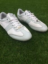 MENS GREY/WHITE VOI JEANS TRAINERS SIZE 9.