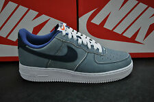 NIKE AIR FORCE 1 MENS SPORTS TRAINERS BLUE WHITE - 488298 432 - UK 7.5