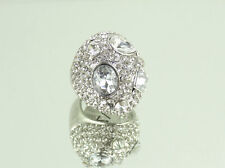 Pave Dome Cocktail Clubing Ring with Swarovski Crystal