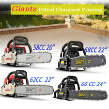 """58/62/66/82 CC Petrol Commercial Chainsaw 22""""/24"""" Bar E-Start Chain Saw  Pruning"""