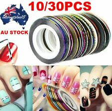 30 Pcs Mixed Colors Rolls Striping Tape Line Nail Art Tips Decoration Sticker S