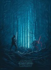 Star Wars The Force Awakens Hi-Res Movie Poster Blue Force