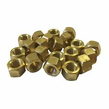 M8 Brass Exhaust Manifold Nuts 8mm x 1.25 Pitch High Temperature