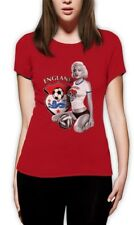 Marilyn Monroe ENGLAND SOCCER Women T-Shirt Football National Team WORLD CUP Top