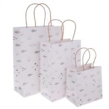 5pcs Paper Bags With Handles Wedding Birthday Christmas Shopping Bags