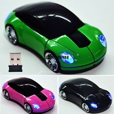 New 2.4G Car Shape Wireless Optical Mouse Mice For Laptop PC USB Receiver IXH401