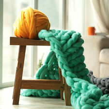 2 kg DIY Arm Knitting Chunky Wool Yarn 100% Wool Bulky Merino Roving Weaving