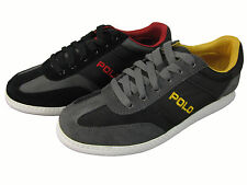 Polo Ralph Lauren Mens Hereford Black or Grey Casual Sneakers Shoes Kicks