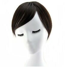 Real Human Hair Seamless Bang Fringe With Simulation Scalp Replacement Top Piece