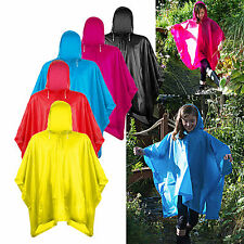 Kids Children Splashmac Hooded poncho Travel Camping Rain Coat