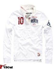 SUPERDRY VALIANT NEW MENS RUGBY TOP SIZES S M L XL XXL WHITE ENGLAND RP £75 BNWT