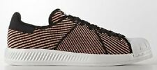 adidas Originals Women SUPERSTAR BOUNCE SHOES Black/Sun Glow/White- US 8,9 Or 10