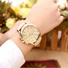 Fashion Watches Geneva Women Casual PU Leather Bracelet watch Quartz Wristwatch