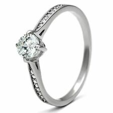 Sterling Silver Solitaire Engagement Ring 5mm Clear Round CZ 925