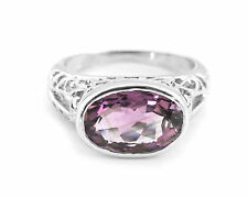 925 Sterling Silver Ring with Purple Amethyst Natural Gemstone Handmade eBay.