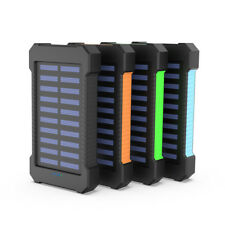 300000/100000mAh Solar Power Bank Mobile Charger Waterproof Battery Backpack