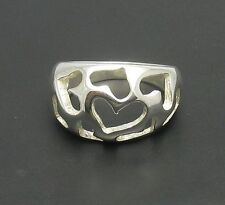 Sterling silver ring hearts solid 925 R000404 EMPRESS