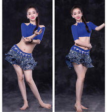 New Sexy 2017 Women Belly Dance Costumes 2Pics Offer Shoulder Top & Skirt