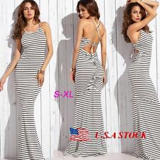 Women's Bodycon Bandage Long Maxi Dress Backless Summer Evening Cocktail Party