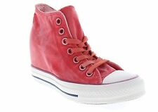 Converse Women's Chuck Taylor Lux Mid Carnival Red Wedge Heel Shoes 547192C