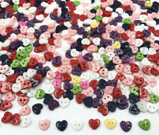 Mini heart shape Mixed Colors Resin Buttons 2-holes DIY sewing scrapbooking 6mm