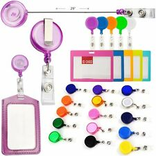 Solid Color Retractable Badge Reels With Belt Clip For Key Card  ID Badge Holder