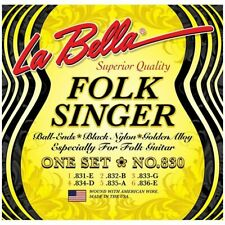 La Bella 830 Folksinger Black Nylon Golden alloy Classical Guitar Strings