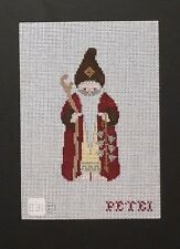 Petei Hand-painted Needlepoint Canvases Santa Series of Ornaments/12 Designs