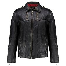 Affliction KEEPER Leather Jacket XL NWT NEW Studded Black