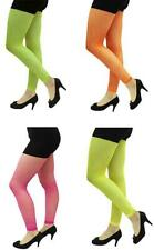 Neon Fishnet Footless Tights Rave 80's Fancy Dress Fun Run Retro Party Madonna