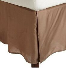 Stylish One Bed Skirt Pima Cotton 1000 TC Pocket Drop 35 Cm Taupe Solid