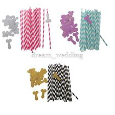 Novelty 25pcs Paper Drink Straws Decoration Cocktails Straws Night Party