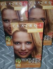 3 New Clairol Texture & Tones Hair Color 7G Lightest Blonde