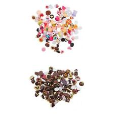 100Pcs DIY Resin Embellishments Decor Scrapbooking Flatback Bow Hair Pin Making