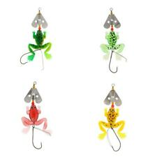 Topwater Frog Fishing Lures Baits Bass Trout Bait Soft Baits with Hook