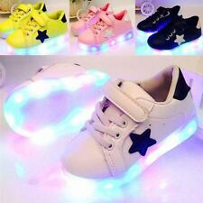 Fashion LED Kids Boys Girls Shoes Light Up Children Trainers Sport Sneakers