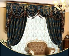9 feet Luxury Jacquard Chenille Waterfall and Swag ready made Valance curtains