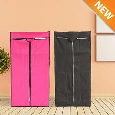 Fabric Canvas Clothes Wardrobe Cupboard Shelves Storage Organiser Hanging Single